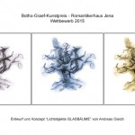 """Lichtobjekte Glasbaume """"Offener Wettbewerb Stadt Jena 2015"""""""