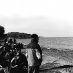 Gestrandet an der Küste zwischen Efthalou und Skala Sikamineas