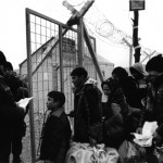 Flüchtlinge an der griechisch-mazedonischen Grenze bei Idomeni